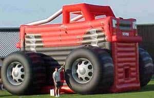 Huge inflatable truck