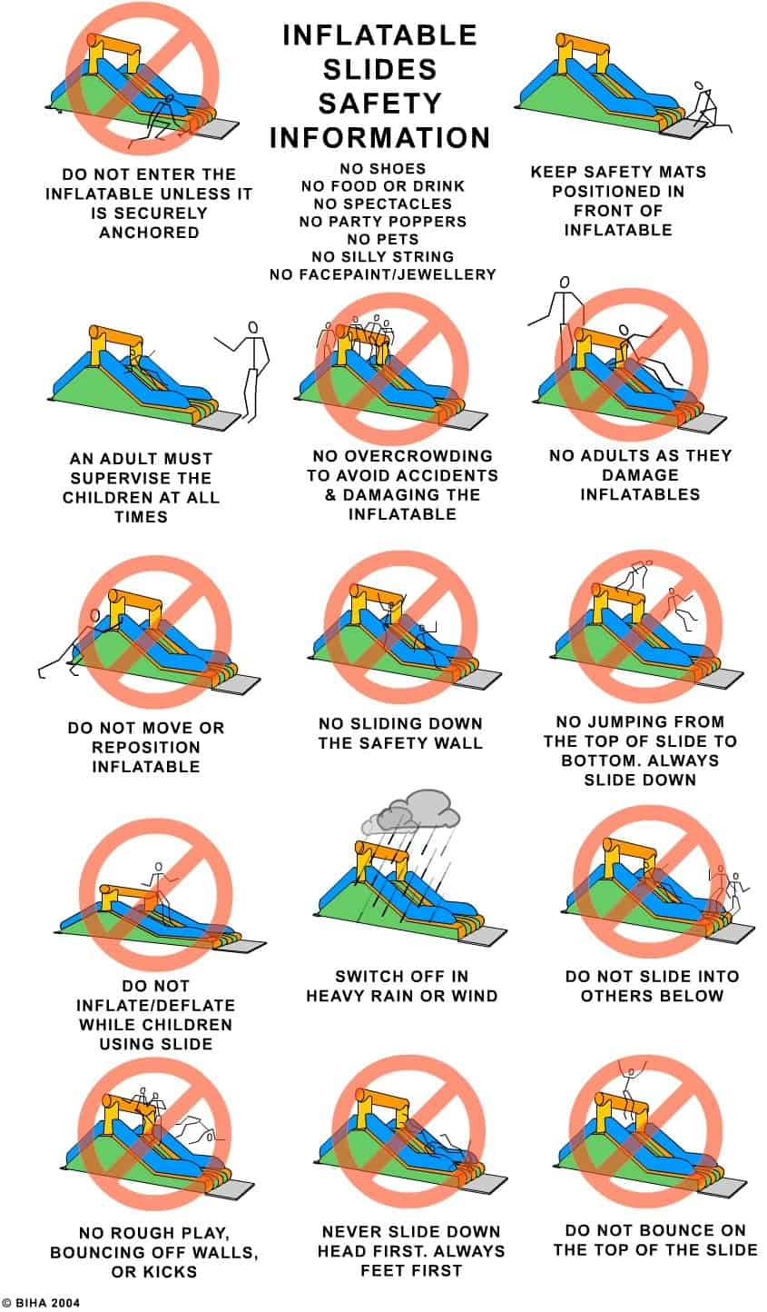 BIHA Slide Safety Cartoons