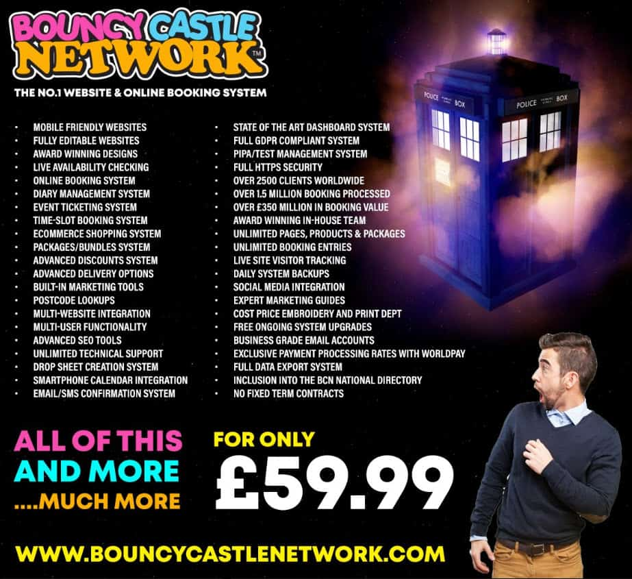 Bouncy Castle Network Promotional Flyer