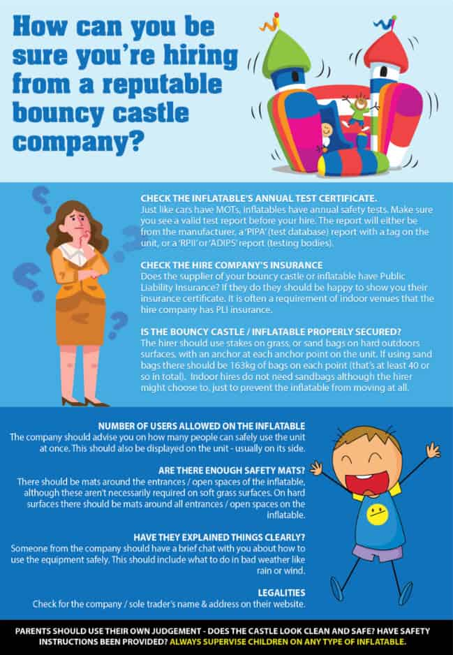 bouncy castle safety